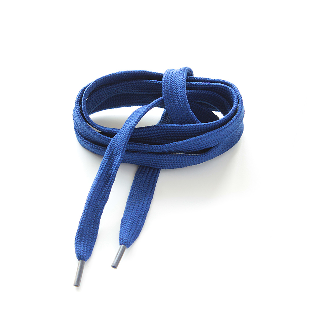Lacet Plat Uni Bleu