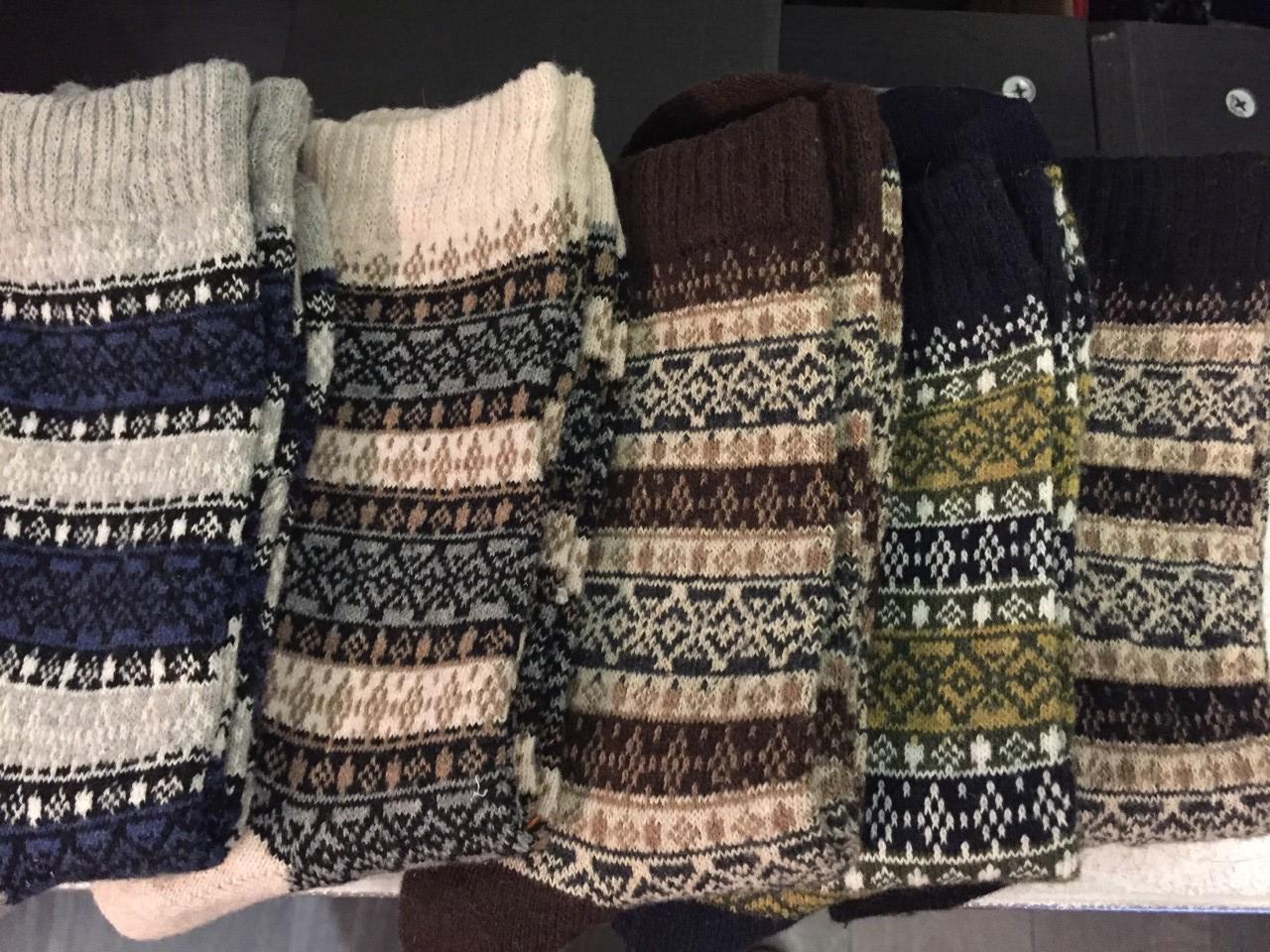 chaussette motif losange 1